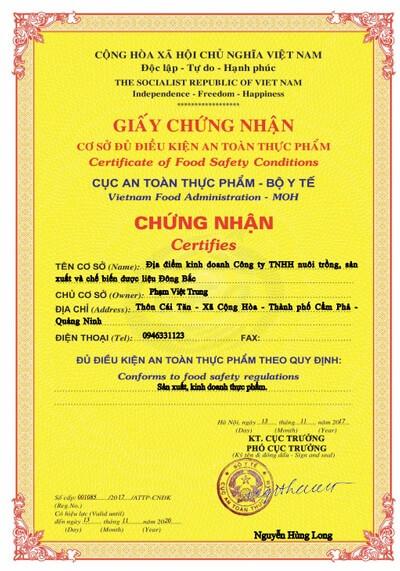 giấy chứng nhận thông nhũ đơn